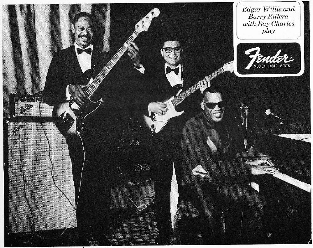 Ad - Fender, Edgar Willis, Barry Rillera, Ray Charles - 1967