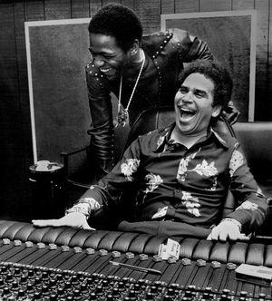 Al Green et Willie Mitchell en studio