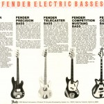 Fender Basses catalogue