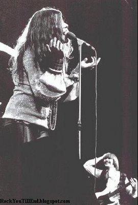 Brad Campbell sur scène avec Janis Joplin