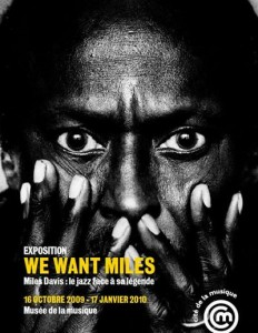 """Affiche de l'exposition """"We Want Miles"""" à la Cité de la Musique – La Villette"""